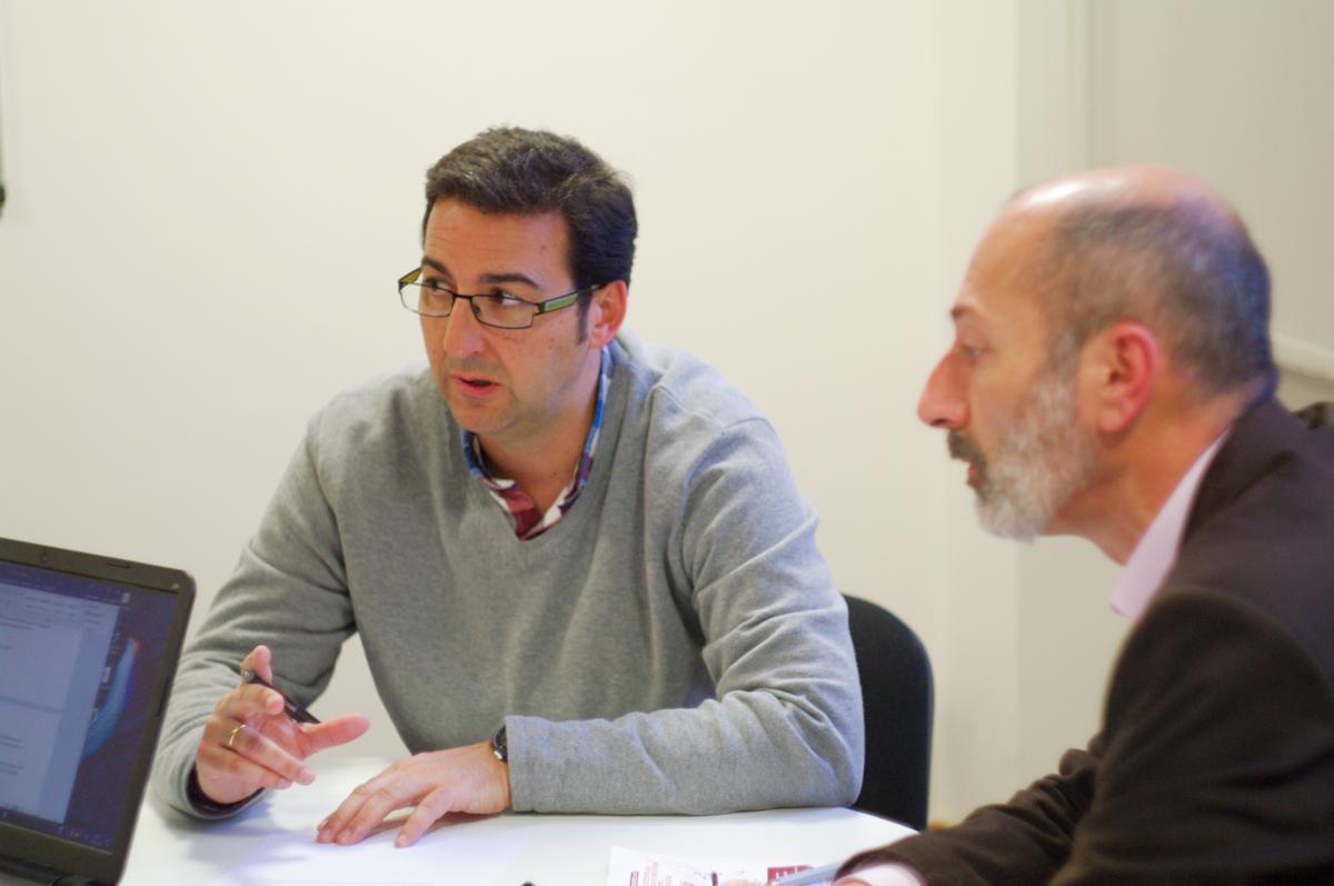 Javier Salas y Juan Carlos Santamaría. Semana del Seguro 2017