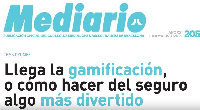Gamificación en seguros. Mediario